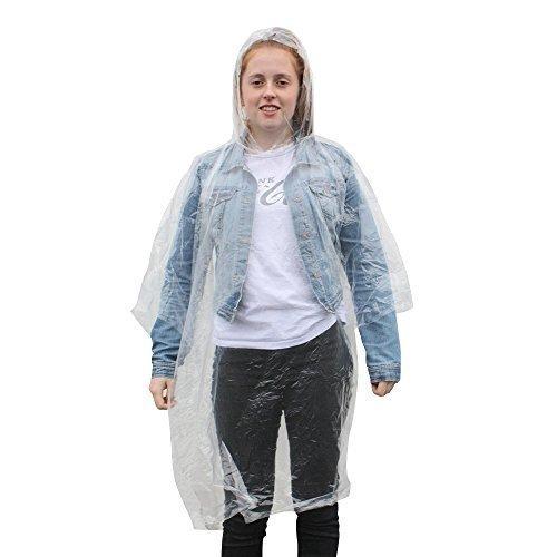 Erwachsene Notfall-Regenponchos – wasserdicht und mit Kapuze – Konzerte/Vergnügungspark (2 Stück) bestellen