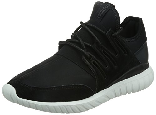 Adidas Men's Tubular Radial, BLACK/WHITE, 9.5 M US