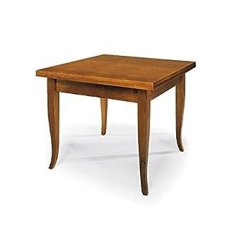 Tavolo quadrato allungabile Noce - 100 x 100 all.200