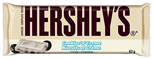 HERSHEY'S Cookies 'n' Crème Candy Bar (1.55-Ounce, 36-Count) (Hershey Cookies N Cream compare prices)
