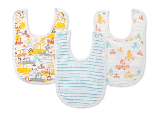 zutano for aden by aden + anais Little Bib  Sunday Drive, 3-Count - 1
