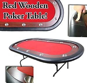 84 Inch Deluxe Wood Race Track Poker Table
