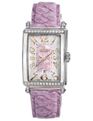 Gevril Women's 7248RT.10C Pink Mother-of-Pearl Genuine Alligator Strap Watch