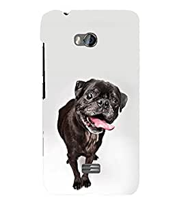 printtech Cute Dog Back Case Cover for Micromax Bolt Q336