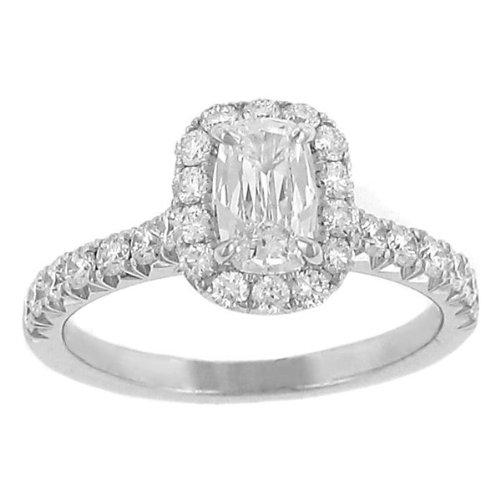 Halo Style Pave Diamond Engagement Ring