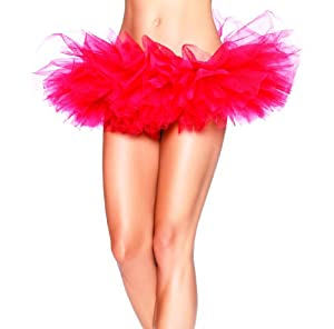 Leg Avenue Women's Organza Tutu, Red, One Size
