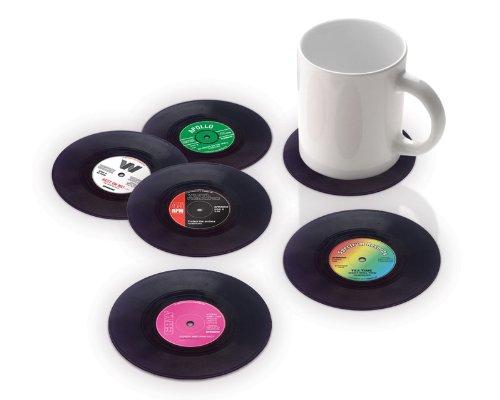 """Vinyl Untersetzer """"Schallplatte"""" (6er Set)"""