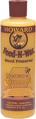 Howard FW0008 Feed-N-Wax Wood Polish and Conditioner, 8-Ounces