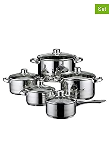 ELO 99805 Skyline Stainless Steel 10-Piece Cookware Set, Induction Ready