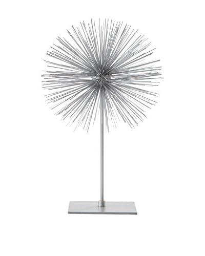 Torre & Tagus Spike Sphere Sculpture, Short, Silver