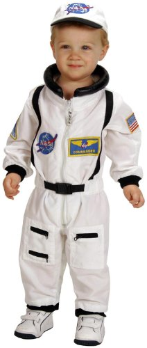 AEROMAX - NASA Jr. Astronaut Suit White Toddler Costume