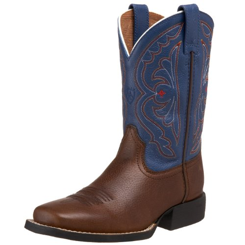 Ariat Quickdraw Western Boot (Toddler/Little Kid/Big Kid),Brown Oiled Rowdy/Royal,12.5 M US Little Kid