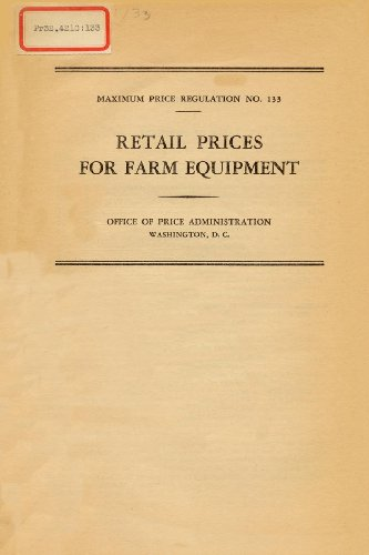 Retail Prices for Farm Equipment