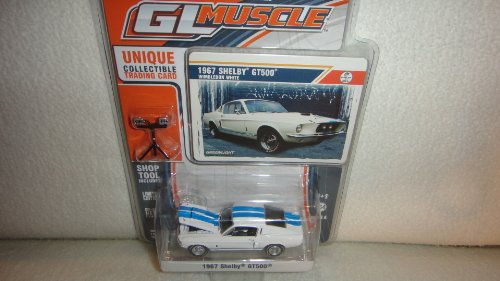 GREENLIGHT 1:64 SCALE GL MUSCLE WIMBLEDON WHITE 1967 SHELBY GT-500 DIE-CAST COLLECTIBLE WITH SHOP TOOL INCLUDED