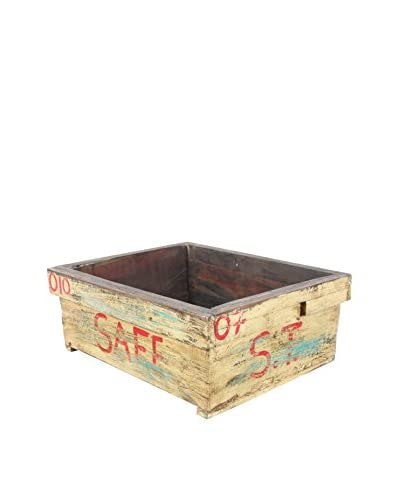 Reclaimed Wood Garden Box, Yellow