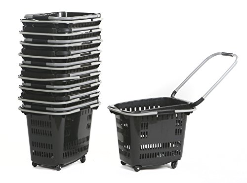 Advance Carts TB42-B Rolling Basket with 4 wheels, 40 L, Black (Baskets With Wheels compare prices)