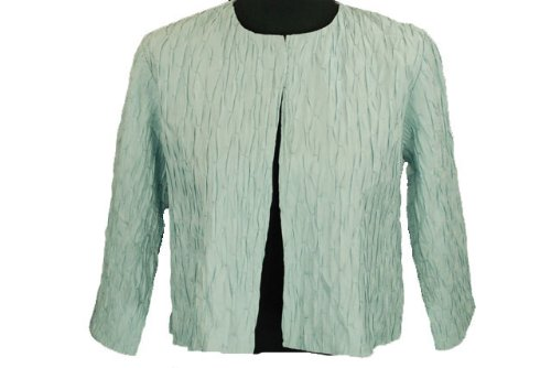 Eileen Fisher Cropped Jacket with Three Quarter Sleeve Cornflower Small