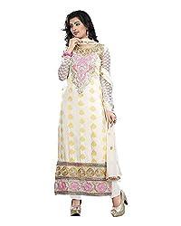Maruti Suit Women's Viscose Suit Material (M1006, White, Free Size)