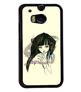 Fuson Sweet Girl Back Case Cover for HTC ONE M8 EYE - D3827