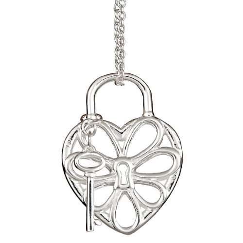 Sterling Silver Filigree Heart Pendant 16