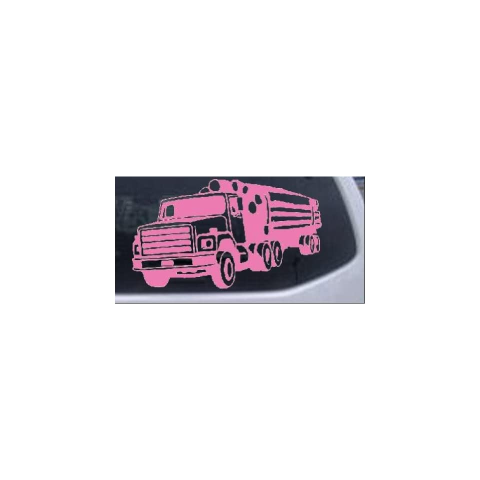 Logging Truck Business Car Window Wall Laptop Decal Sticker    Pink 36in X 20.7in