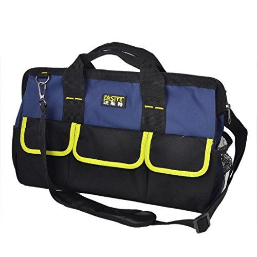 Blue Yellow Nylon Oxford Computer Maintenance Tool Holder Bag front-624325