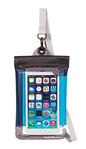travelon-waterproof-smart-phone-digital-camera-pouch-blue-one-size