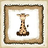 Safari Giraffe by Pugh, Jennifer - Fine Art Print on CANVAS : 10 x 10 Inches