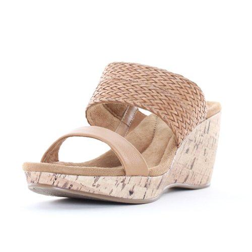 Giani Bernini Women'S Athalia Platform Wedge Sandals In Tan Size 11 front-418422