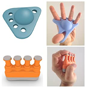 TOP RATED Hands & Fingers Kit - Best 2-in-1 Bundle Of 1 Hand Extender Gripper & 1 Finger Strengthener - Lifetime Guaranteed - Ultimate Hand Grip Extension & Finger Workout For Athletes & Musicians - Great Exerciser Kit For Guitar Violin Cello Bass & Piano