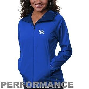 NCAA Columbia Kentucky Wildcats Ladies Surefire Softshell Performance Jacket - Royal Blue (Medium)
