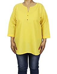 Indian Kurti Top Womens Comfortable Airy Clothes For Summer - B00X9KMRS6