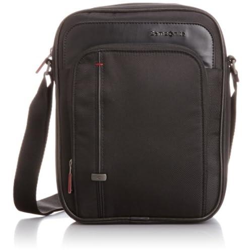 [サムソナイト] SAMSONITE Essence Pro / エッセンシス プロ バーティカル シュルダーバッグ (ビジネスバッグ・ショルダー・軽量・タブレットPC収納・保証付) R32*09005 09 (ブラック)