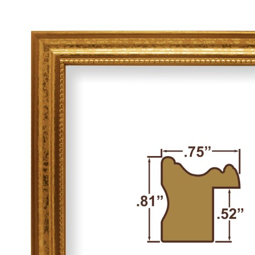 "12x18 Picture Frame / Poster Frame .75"" Wide Complete Ornate Gold Wood Frame (314GD)"