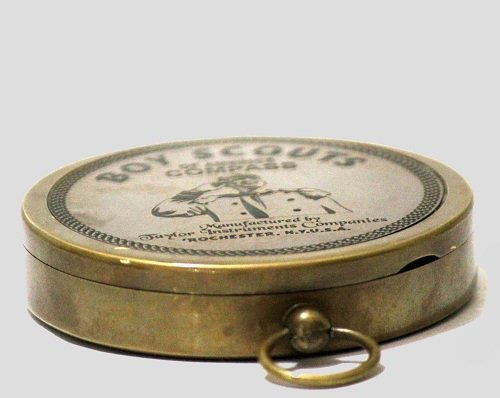 American Boy Scout Compass Antique Vintage Brass Compass 6