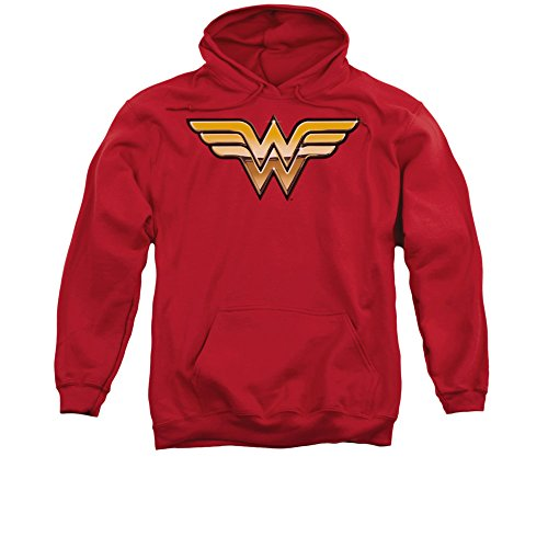 Wonder Woman Justice League JLA Golden Logo DC Comics Superhero Adult Hoodie