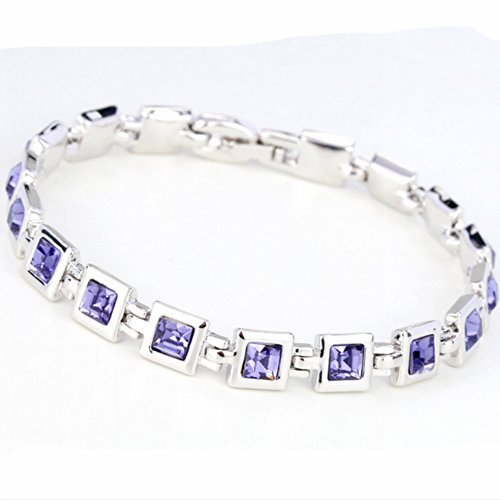 Europe American Diamond-Encrusted Crystal Bracelet(C6)