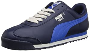 PUMA Men's Roma Basic Leather Sneaker,Peacoat/Blue,10.5 M US
