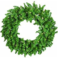Sterling/Palm Tree 447104 Canadian Pine Prelit Wreath-36