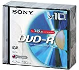 Sony DVD-R 4.7GB 120min 16x Slim Case (10 Pack)