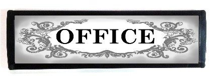 Office Sign with decorative design (7