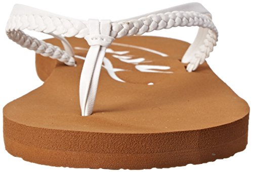 Roxy Women's Cabo Flip Flop, White, 8 M US