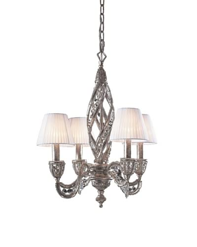 Artistic Lighting Renaissance 4-Light Chandelier, Sunset Silver
