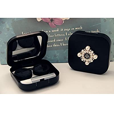 Creative Travel Contact Lenses Case Storage Holder, Pearl Diamond