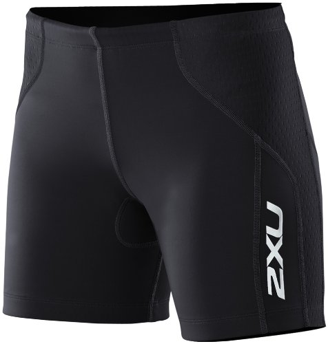 2XU Women's Comp Tri Shorts, Black/Black, Small