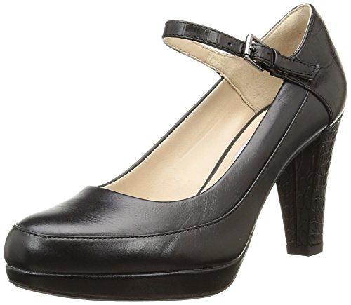 ClarksKendra Dime - Decolleté con cinturino alla caviglia donna , Nero (Schwarz (Black Combi Leather)), 38