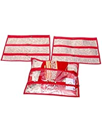 Kuber Industries Multi Purpose Kit, Saree Cover, Utility Bag, Blouse Cover (Set Of 3 Pcs) - B01GD8NKSG