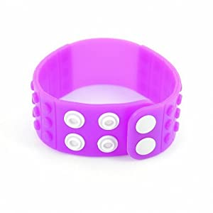 P&o Fashion Man Woman Silicone Replaceable Wrist Watch Band Violet