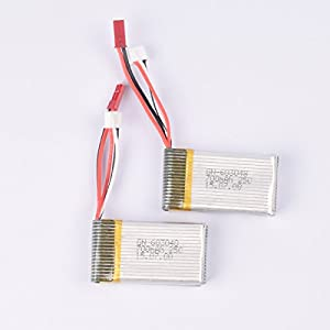 YouCute 2PCS 7.4V 700mAh Battery and 1to2 Charger for mjx X600 RC quadcopter drone spare parts