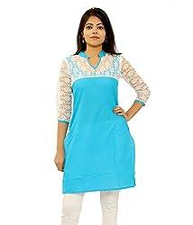 Shubh Women's Cotton Kurti (Shubh_185_Green_Free Size)